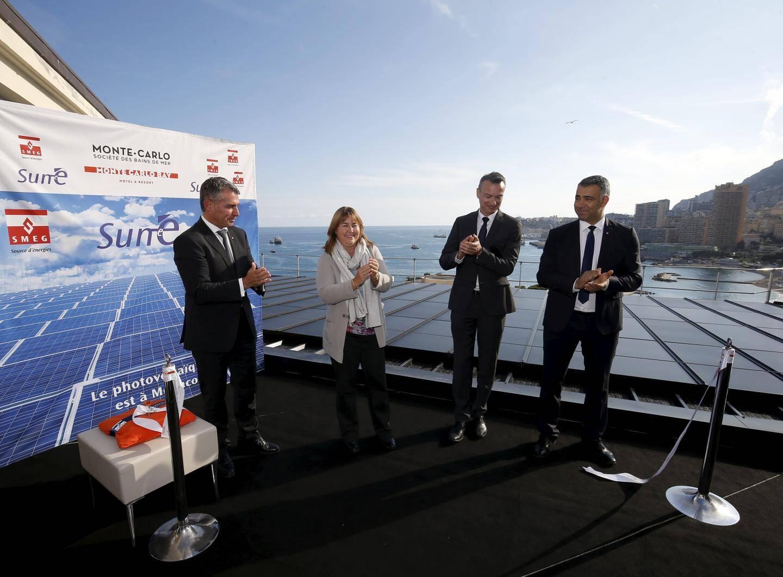 L'installation a été inaugurée par Marie-Pierre Gramaglia, avec Frédéric Darnet et Achour Daria du Monte Carlo Bay, et Thomas Battaglione de la SMEG.