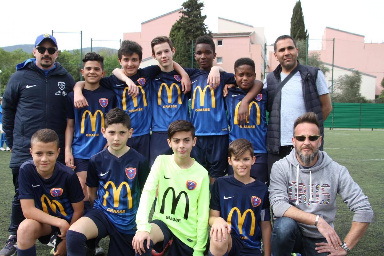 Les jeunes du RC Grasse, défaits en finale (2-1) face à leurs homologues de l'US Valbonne.