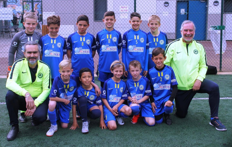 Les U10 du FC Mougins.