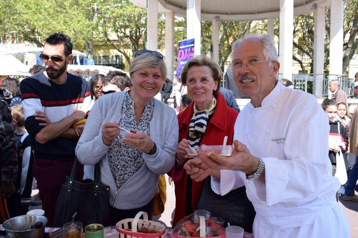 Jacques Chibois était déjà là au lancement du marché, il y a quatre ans.