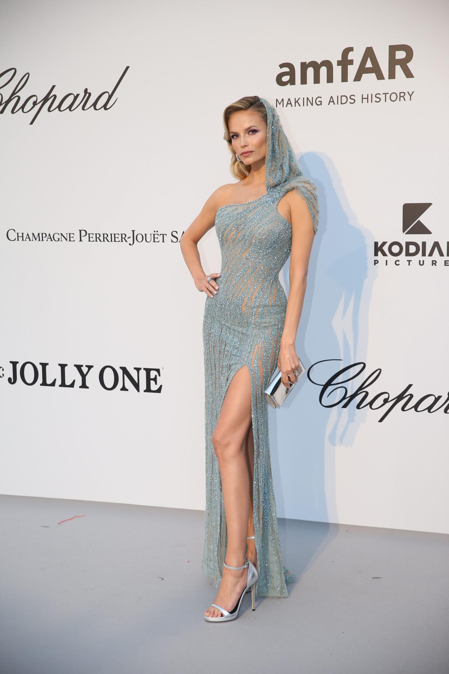 La mannequin Natasha Poly.