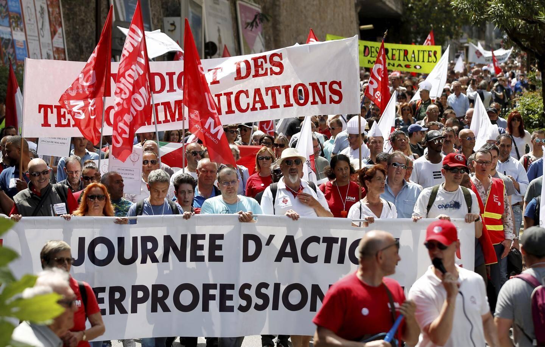 Salariés et retraités ont défilé hier main dans la main.