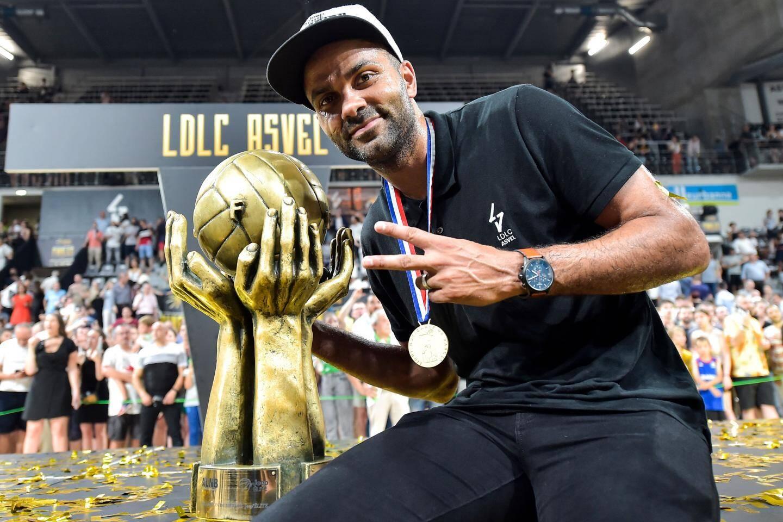 Tony Parker est un président comblé : l'ASVEL est champion de France chez les garçons et les filles.
