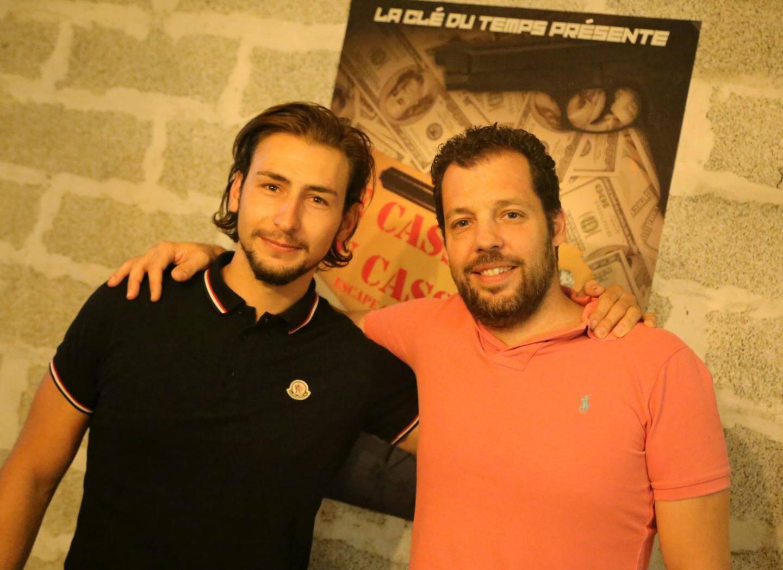 Rudy Suppa et Christophe Gazzo sont associés dans la Clé du temps, à côté du cinéma Olbia.