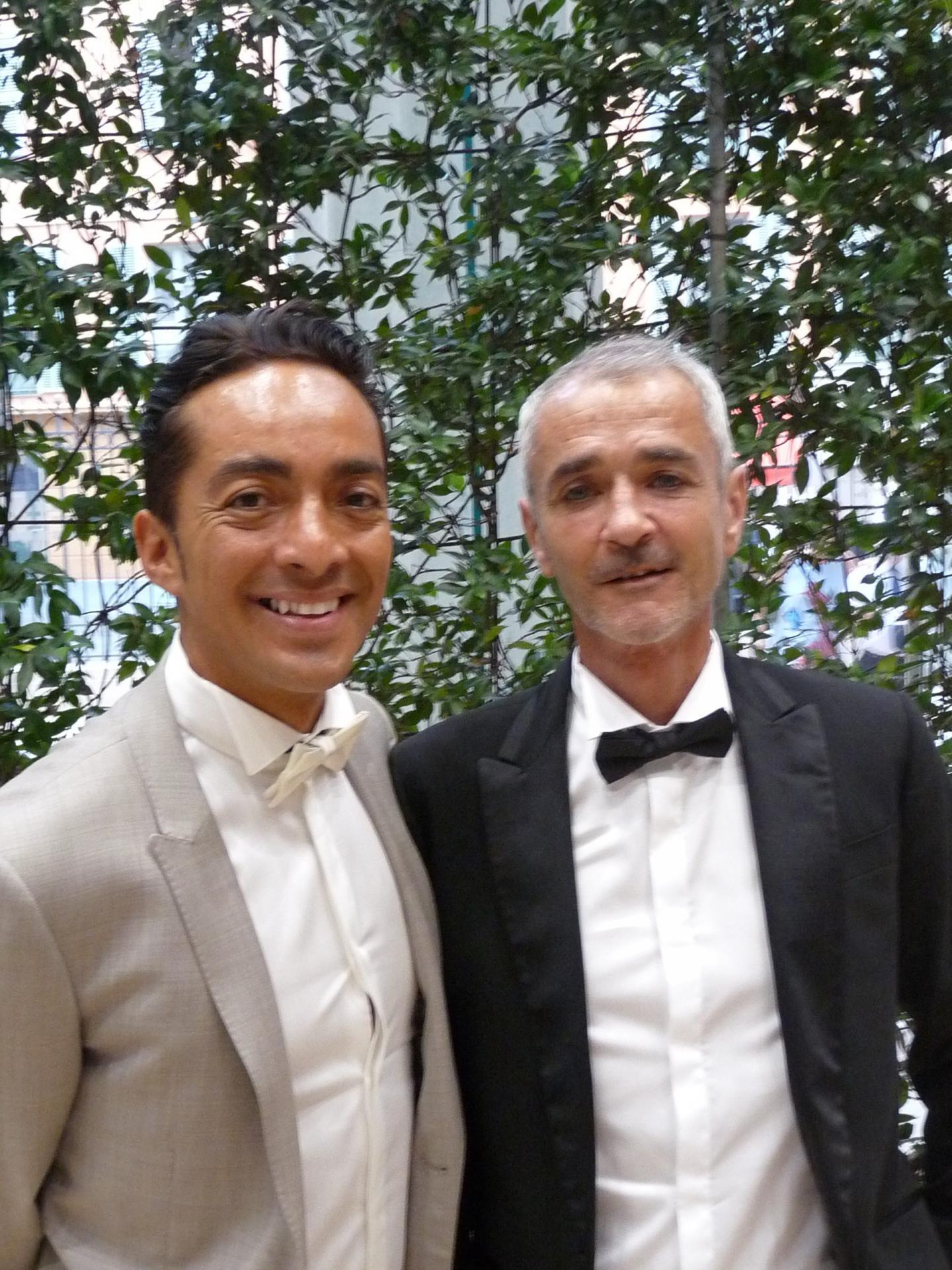 Alfredo Castro Viveros, coiffeur, et Dominique Baumier, chef d'entreprise.