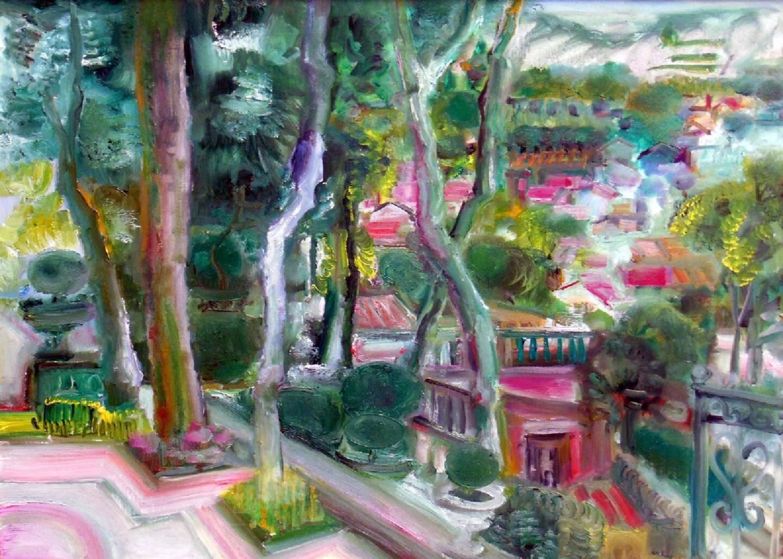 Le Jardin de la Casa Nieves, huile sur toile, 73 x 100 cm.