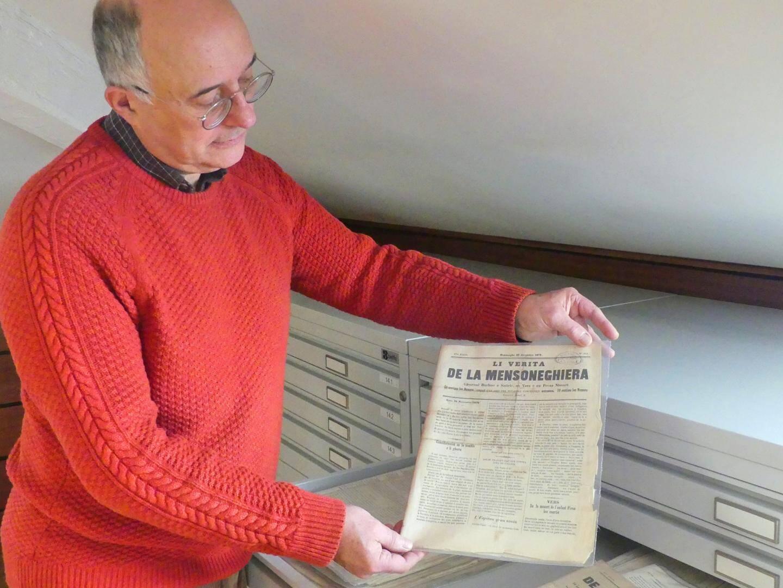 """La bilbiothèque """"Victor de Cessole"""" de la villa Masséna est la seule a posséder ce journal niçois datant de 1870."""