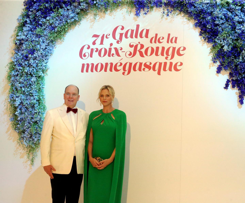 Le couple princier lors du 71e Gala de la Croix-Rouge monégasque.