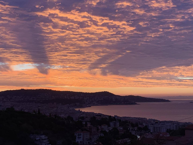 Vue depuis le quartier Saint-Antoine à Nice.