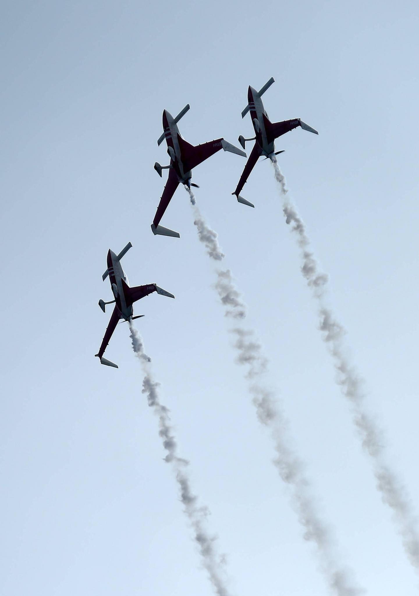 Acrobaties spectaculaires.