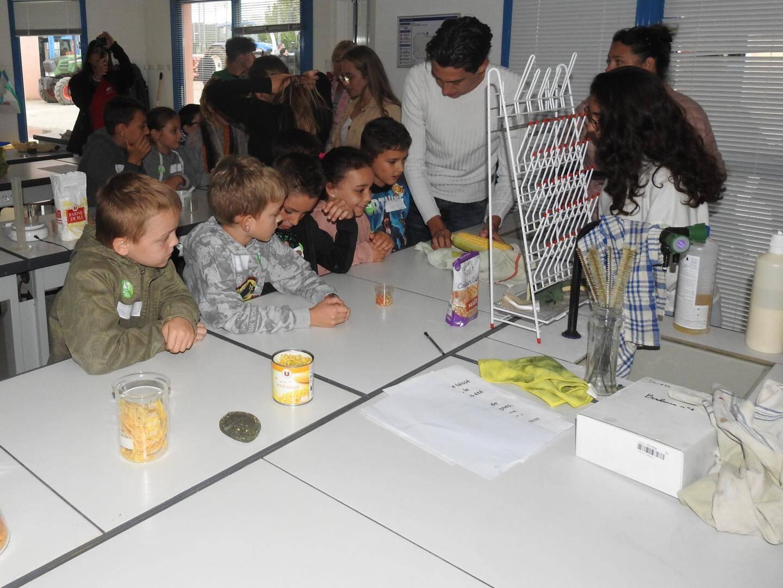 Les expériences chimiques et physiques ont intéressé les petits.