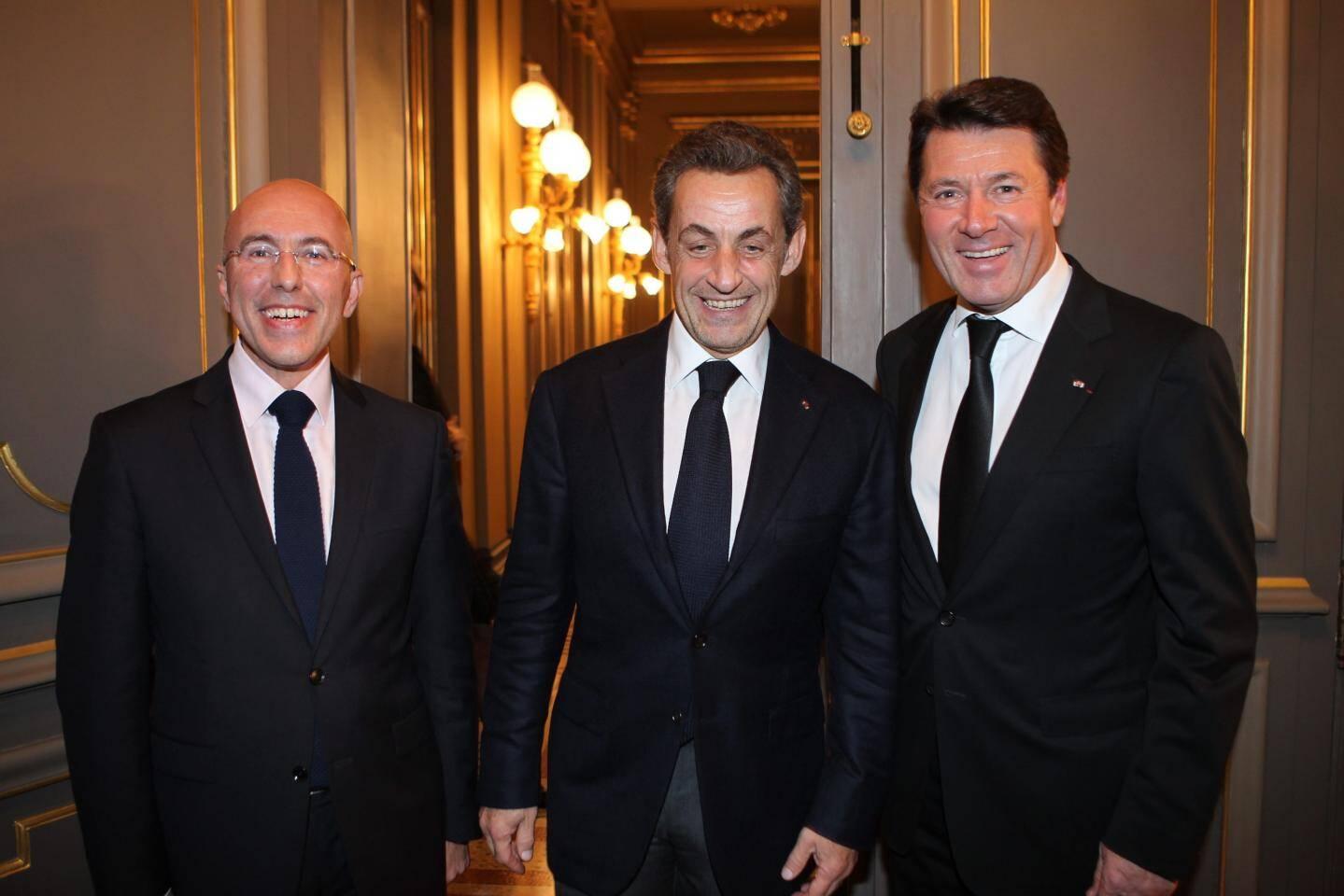 En 2013, les députés Christian Estrosi et Eric Ciotti avec Nicolas Sarkozy à Monaco.