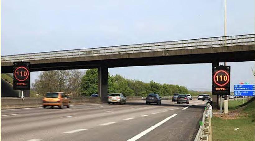Sur l'A3, l'étendue des ralentissements a été réduite de 40% depuis la mise en service de la régulation dynamique de trafic.