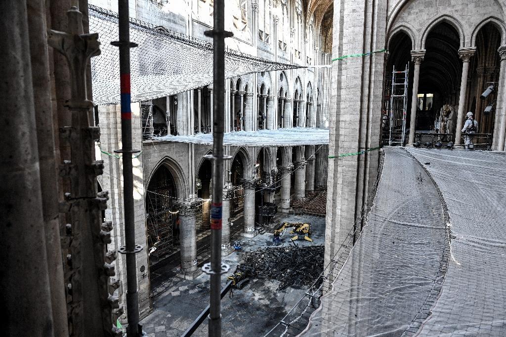 La nef de Notre-Dame de Paris le 17 juillet 2019