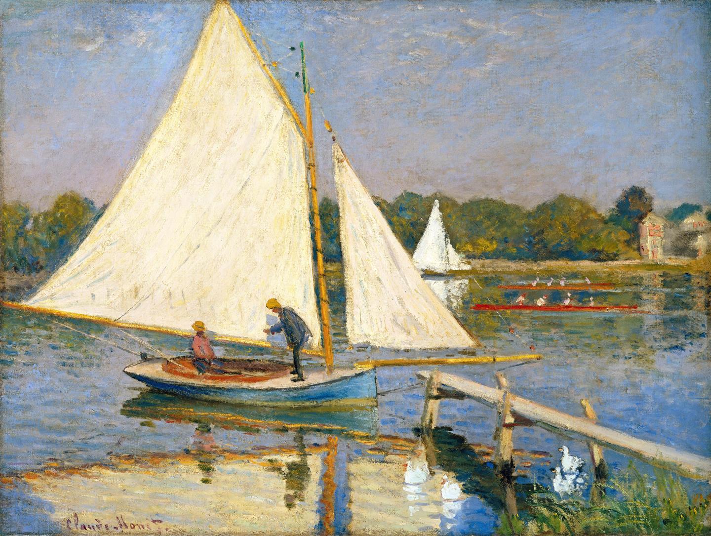 Claude Monet, Canotiers à Argenteuil, 1874. Huile sur toile, 60×80,5 cm.