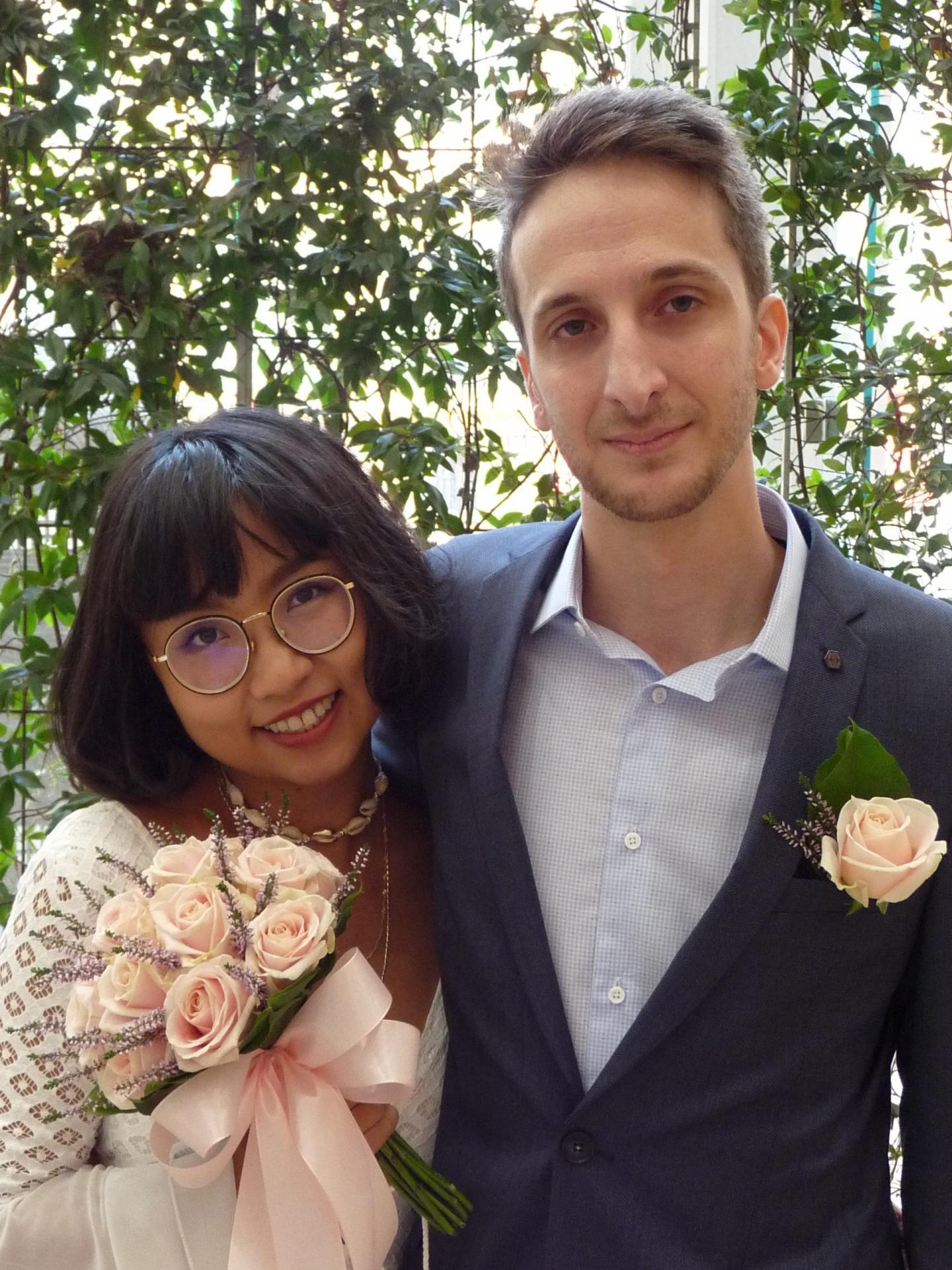 Xiaoxiao Liu, vendeuse en parfumerie et Aurèle Gasperoni, restaurateur.