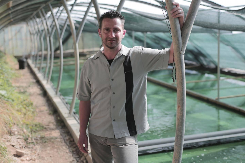 """Hervé Le Guennec a construit des serres """"bioclimatiques""""."""