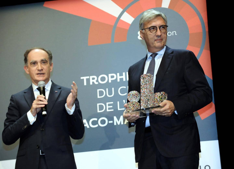 Jean-Louis Grinda et le conseiller-ministre Jean Castellini.