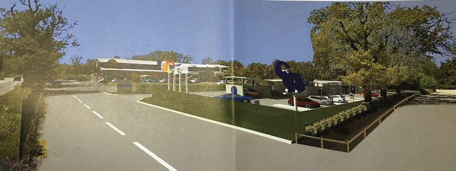 Voici une esquisse du projet envisagé pour la station de lavage.