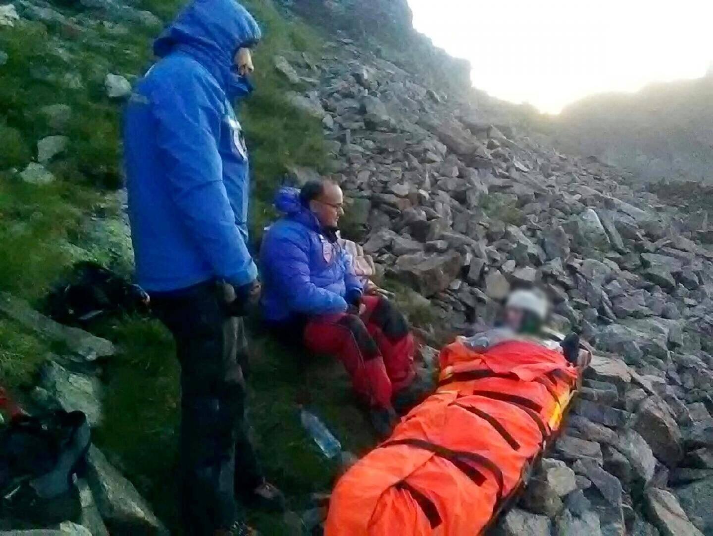 La victime a dû passer la nuit en montagne à cause d'une météo peu clémente.(DR)