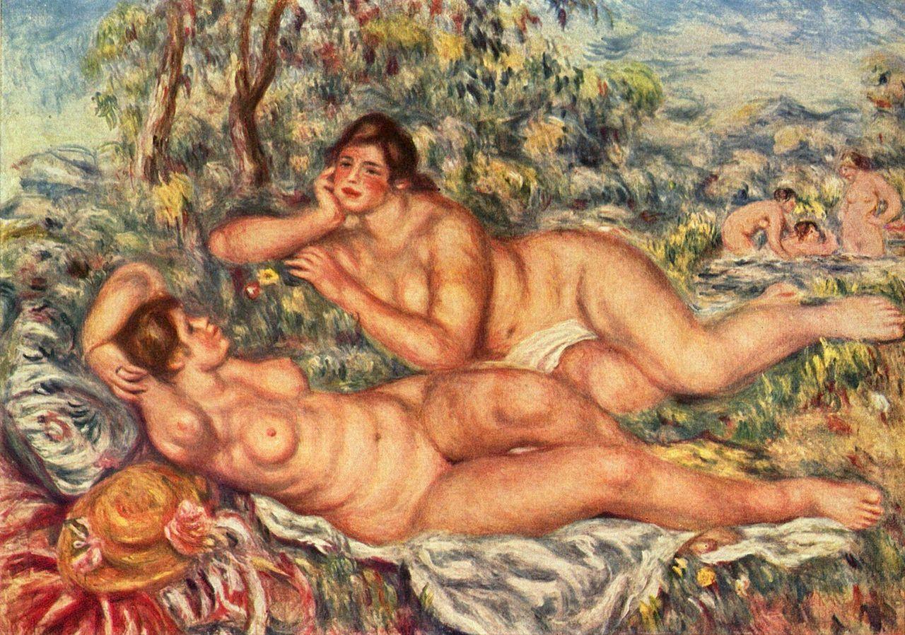 Les Baigneuses, d'après le modèle de Catherine Hessling