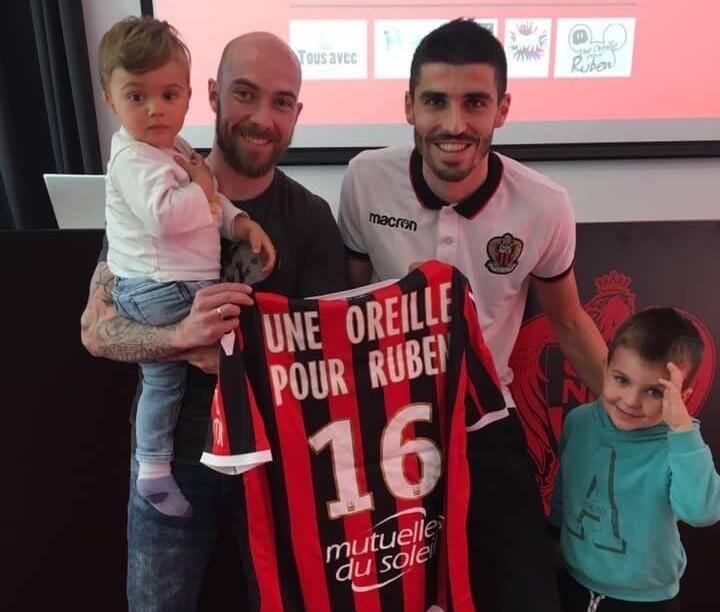 L'OGC Nice à fond avec la petite famille.