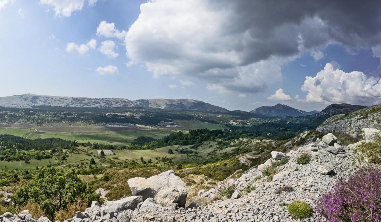 Une vue paisible, dégagée, depuis Caussols.