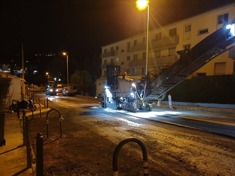 Le chantier avenue du Mont-Joli au Cannet.
