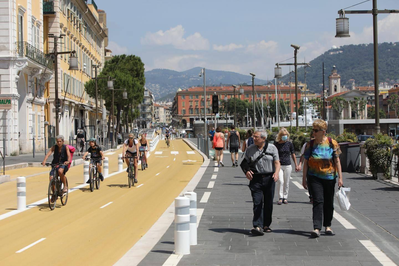 Au port de Nice, vélos et piétons disposent de plus d'espace pour circuler.
