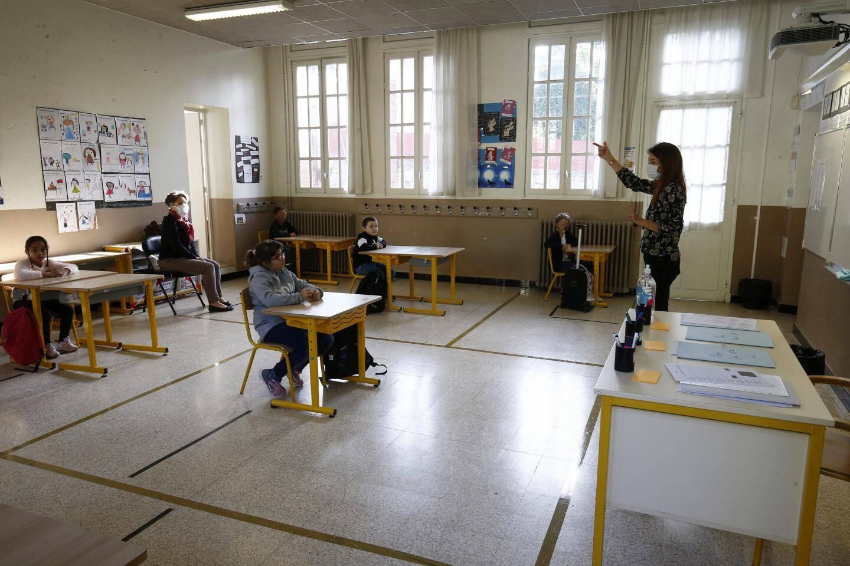 Rentrée scolaire à l'école primaire Brunet 2 de Toulon.