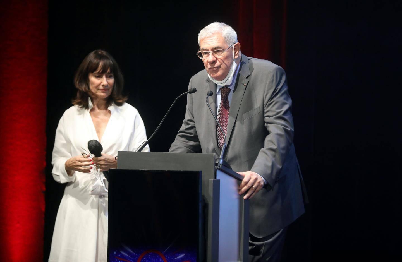 Henri Fissore, président du Grimaldi Forum, et Sylvie Biancheri, directeur général.