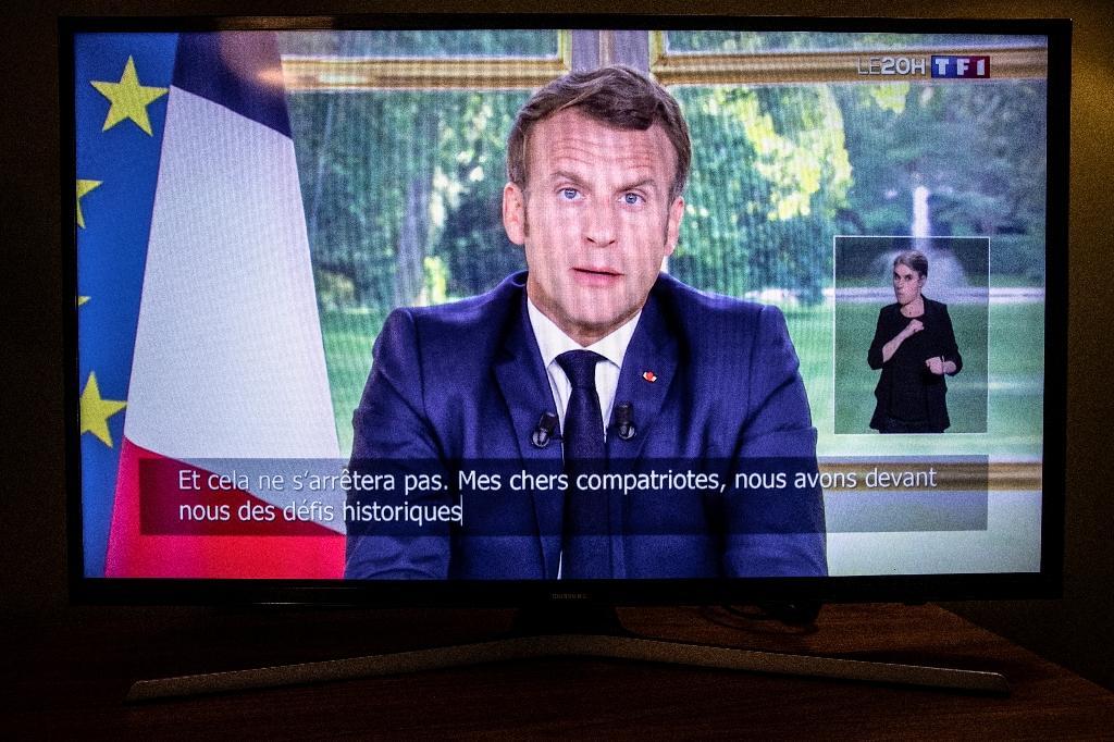 Retransmission télévisée de l'allocution d'Emmanuel Macron, le 14 juin 2020, consacrée à la poursuite du déconfinement