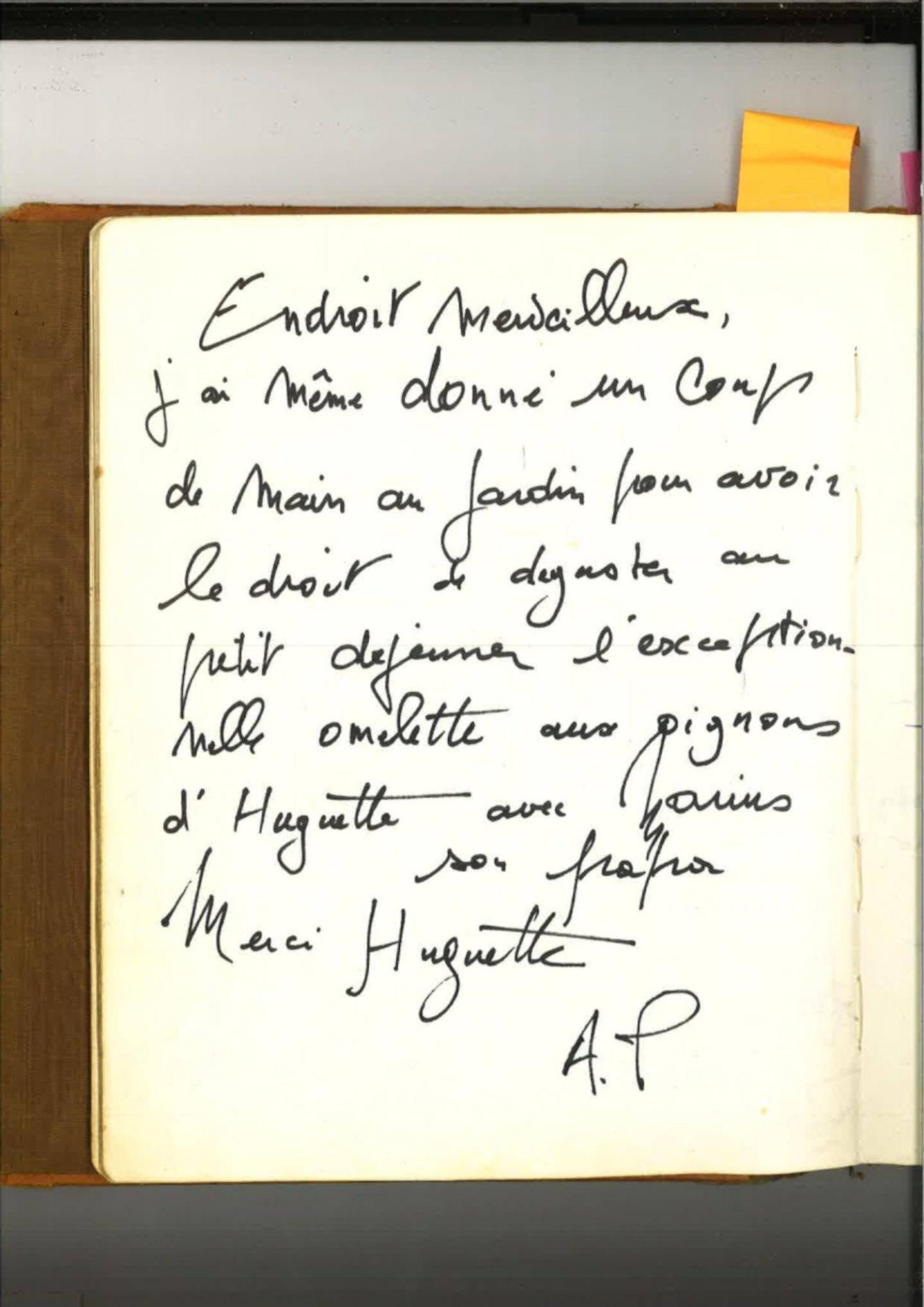 Le mot laissé par Alain Poher, président du sénat.