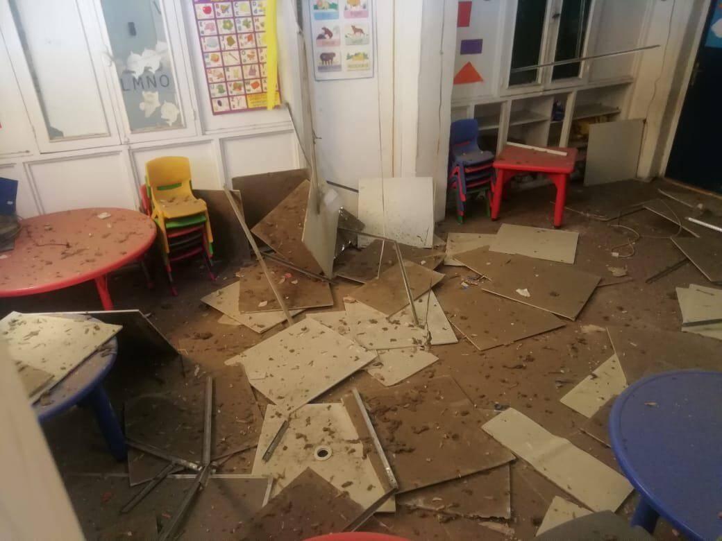 Une salle de classe de l'école des Frères Saint-Joseph…