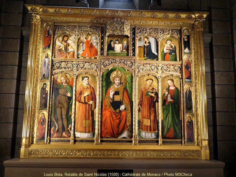 L'un des retables de Bréa dans la cathédrale.(DR)