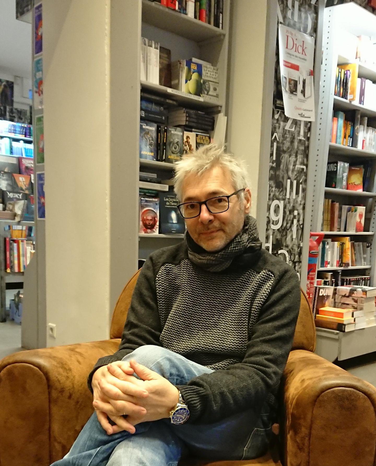Jérôme Dugast, librairie Massena, avenue Robert-Soleau.