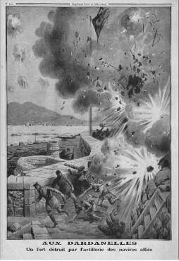 La bataille des Dardannelles fut un fiasco militaire