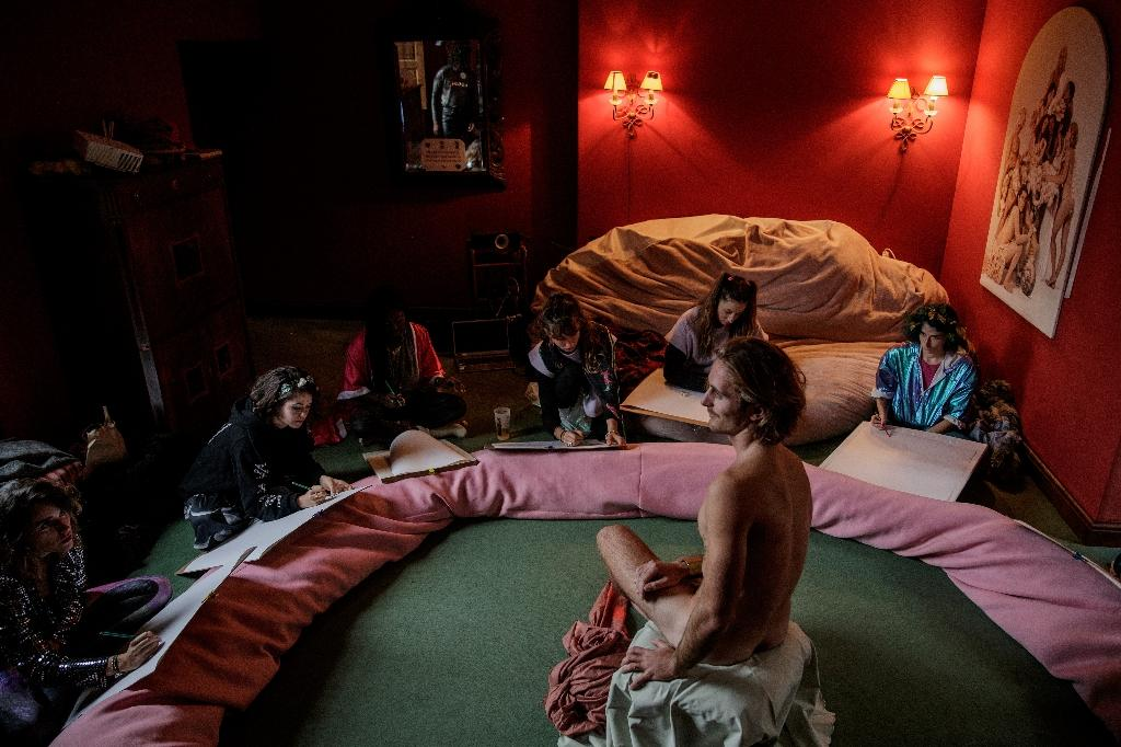 Atelier de dessins dans le manoir normand, le 17 novembre 2020