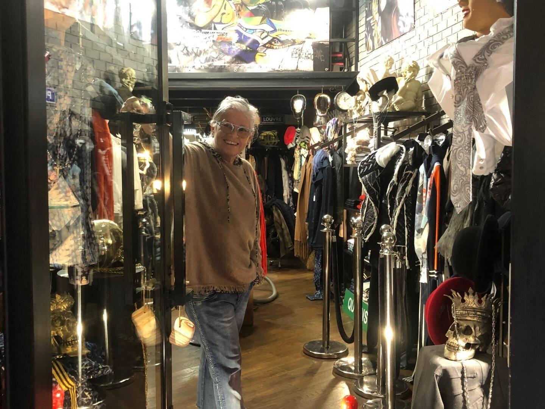 """Maryse Yvon, propriétaire de la boutique """"Down Town""""."""
