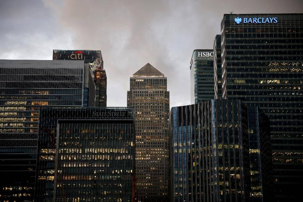 Les bureaux des groupes Citi, HSBC et Barclays, à Londres, le 11 décembre 2011