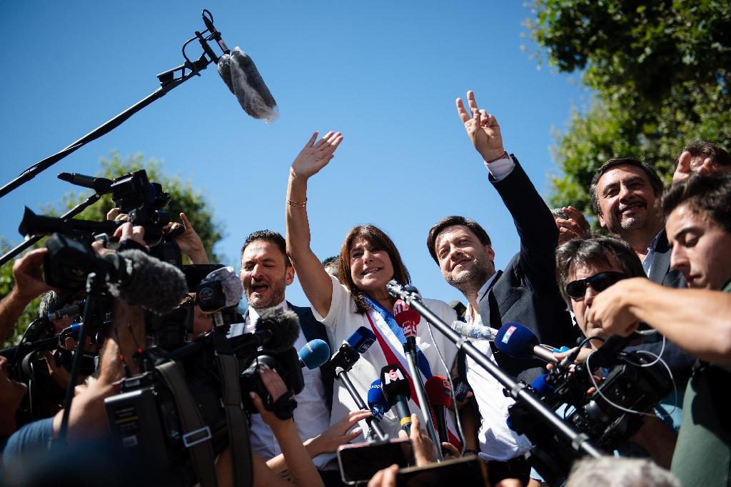 Michèle Rubirola avec son premier adjoint socialiste Benoît Payan le 4 juillet 2020, à Marseille