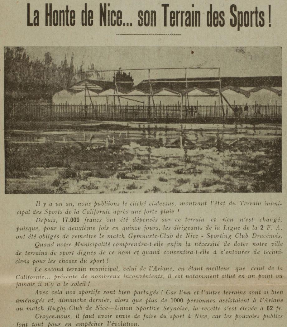 L'hippodrome du Var, très fréquenté, était situé sur l'actuel emplacement de l'aéroport.