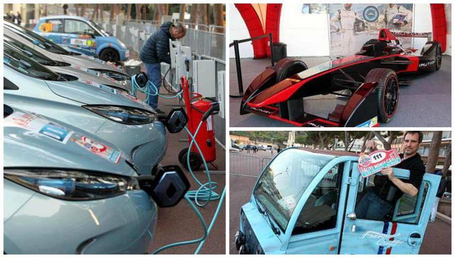 Le village présente les nouvelles technologies dans le sport auto.
