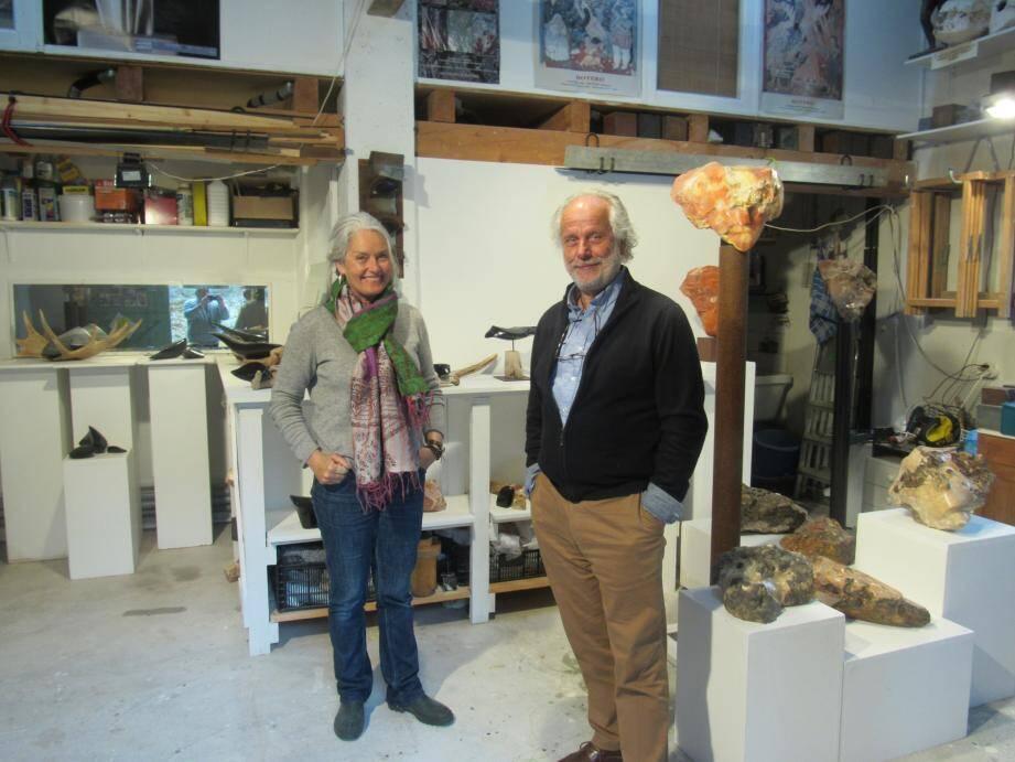 Saskia Van Der Made et Olivier Bataille (sculpture).