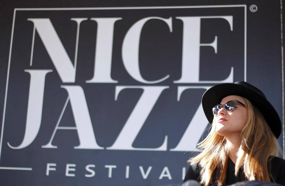 Nice le 12/04/2016 - Conference de presse et presentation du programme du Nice Jazz Festival 2016, en presence de la maraine du festival, l auteur-compositeur-interprŠte et musicienne am¿ricaine Melody Gardot.