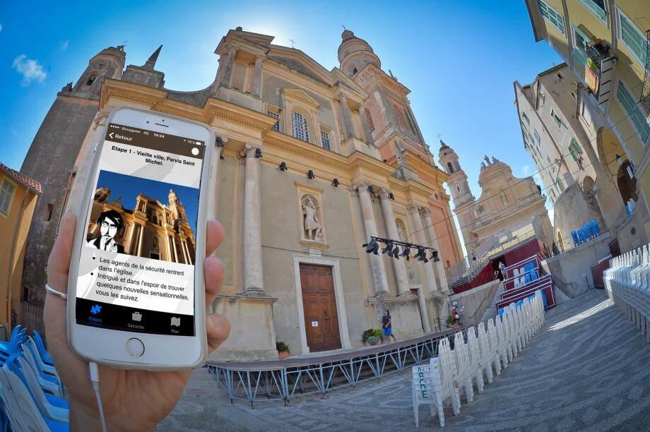 L'application vous permet de mener une enquête conçue autour du patrimoine.
