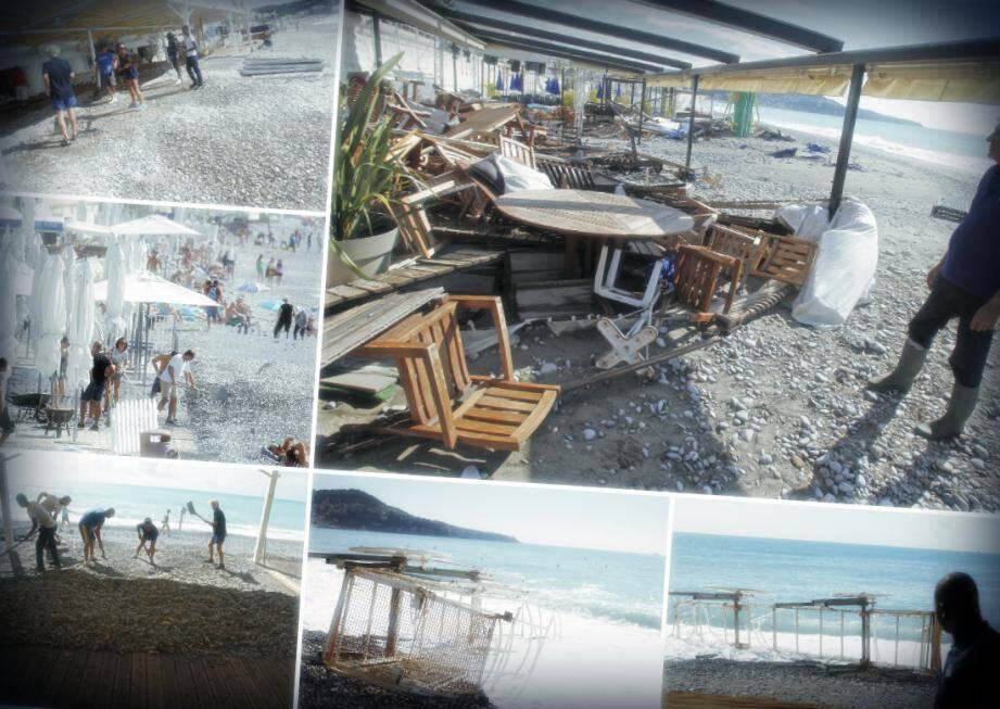 Spectacle de désolation sur les plages niçoises