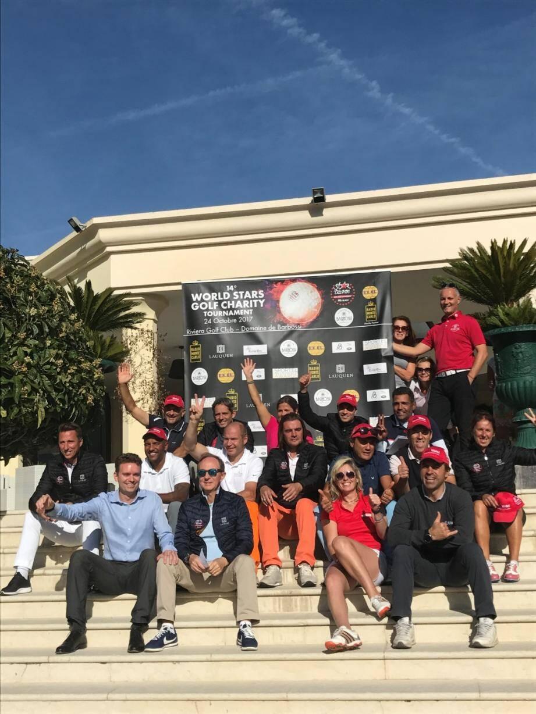 Les généreux sportifs qui ont participé au tournoi de charité de golf organisé par Star Team.