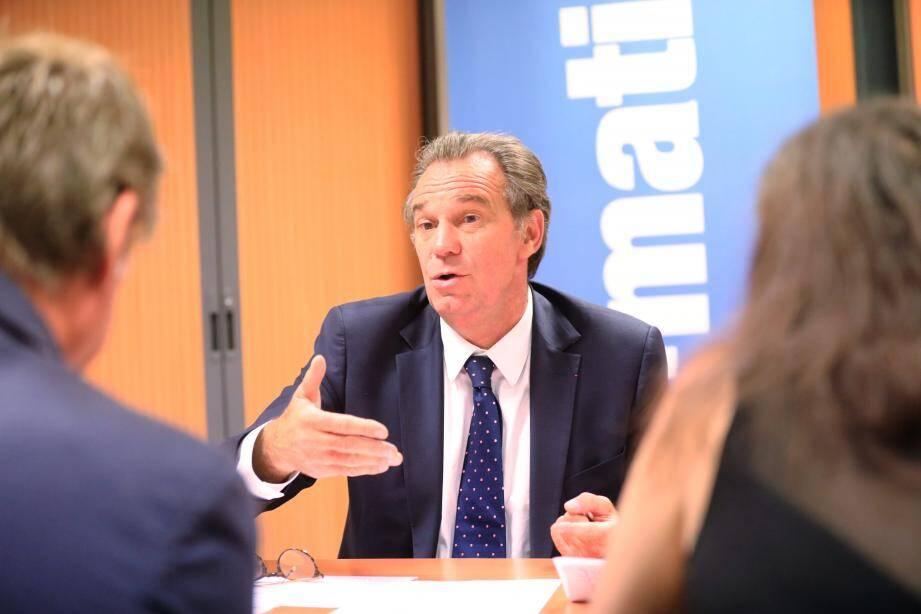 Le président de la Région Sud Provence-Alpes-Côte d'Azur (ne lui parlez pas de Paca !), Renaud Muselier (Les Républicains), était hier dans les locaux de la rédaction de Var-matin.