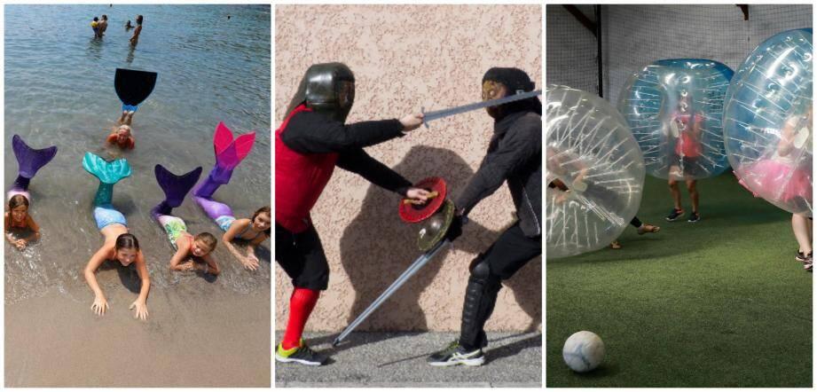 Nager en sirène, escrime médiévale, bubble-foot, autant de choix disponibles dans la région.
